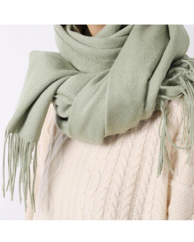 Wool tassel scarf-2017aw out of stock color limited replenishment