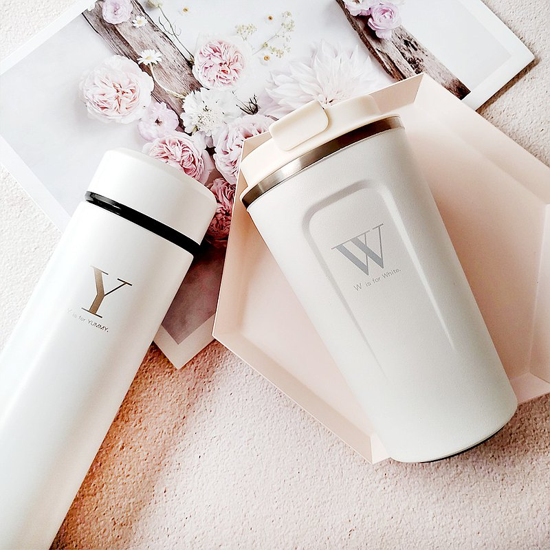 [Customized English name] Craftsman engraving thermos stainless steel thermos cup birthday gift
