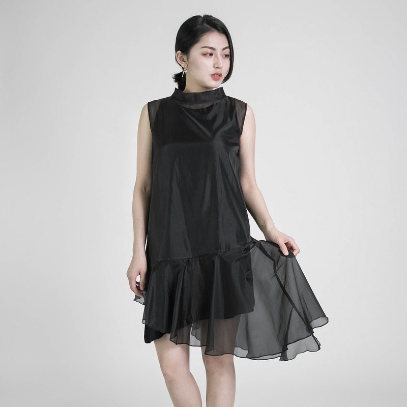 Prototype prototype double shoulder dress _8SF123_ black