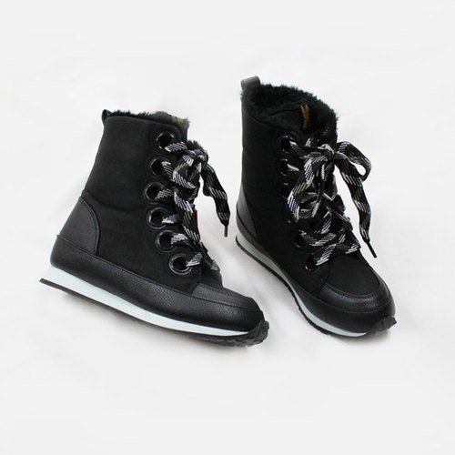 Casual Korean winter boots - wild black