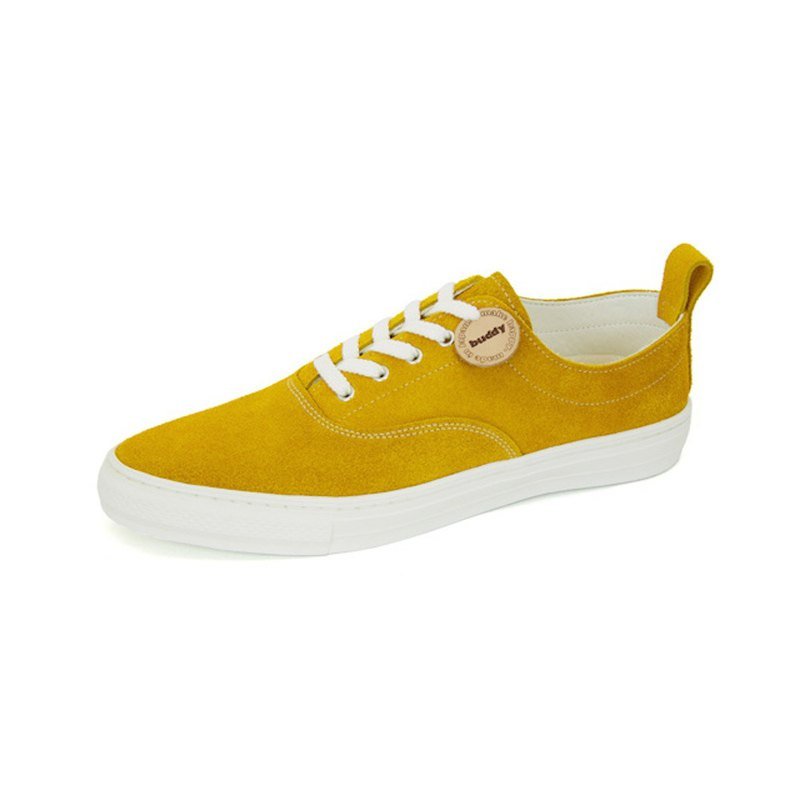Dachshund Low Mustard / mustard leather sneakers