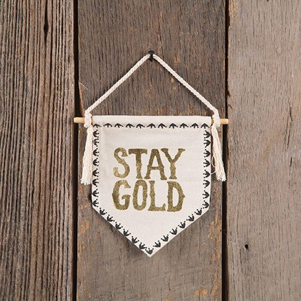 Canvas Banner S-Stay Gold∣WHG031