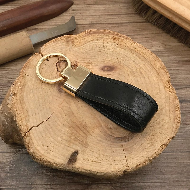 [Keychain/Keyring] Black Calfskin | Small Things | Hong Kong Hand-sewn Leather Goods