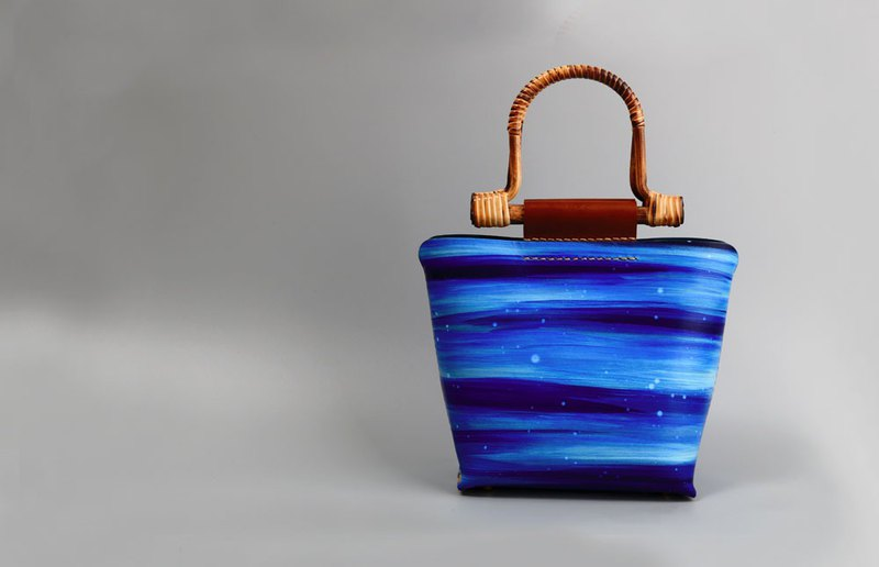 Hefei OPHIRHE original handmade first layer leather painting dye handbag marine series