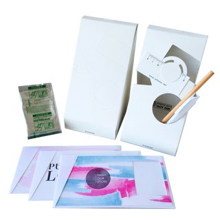 Pin Cards - Paint Love Greeting Frame Card Kit Frame cards + film + paper pencil + pen container