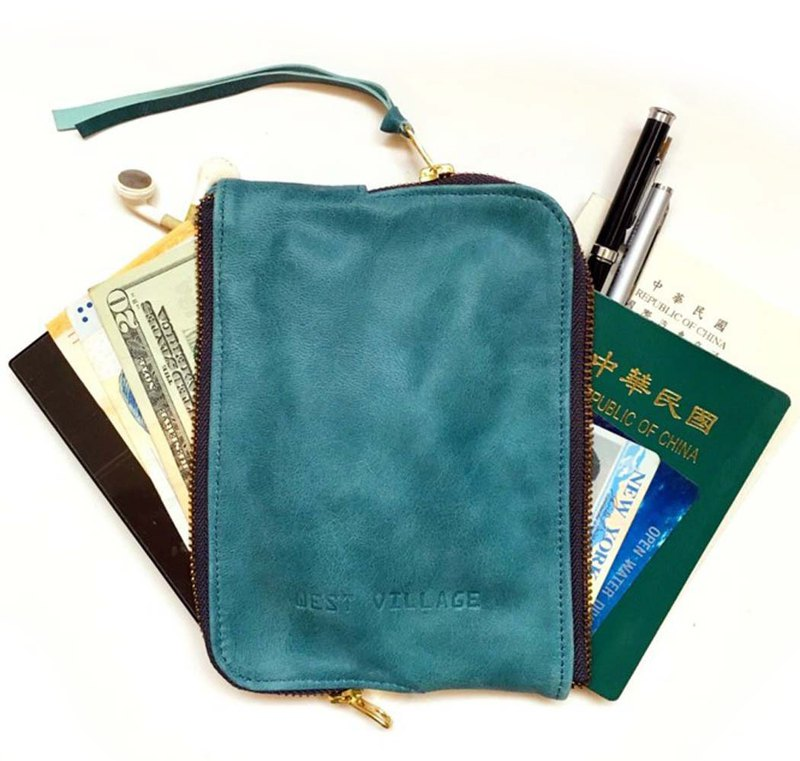 Double-Sided Zipper Carry Case / Double Face / Sheepskin / Blue / S / Manual Limited