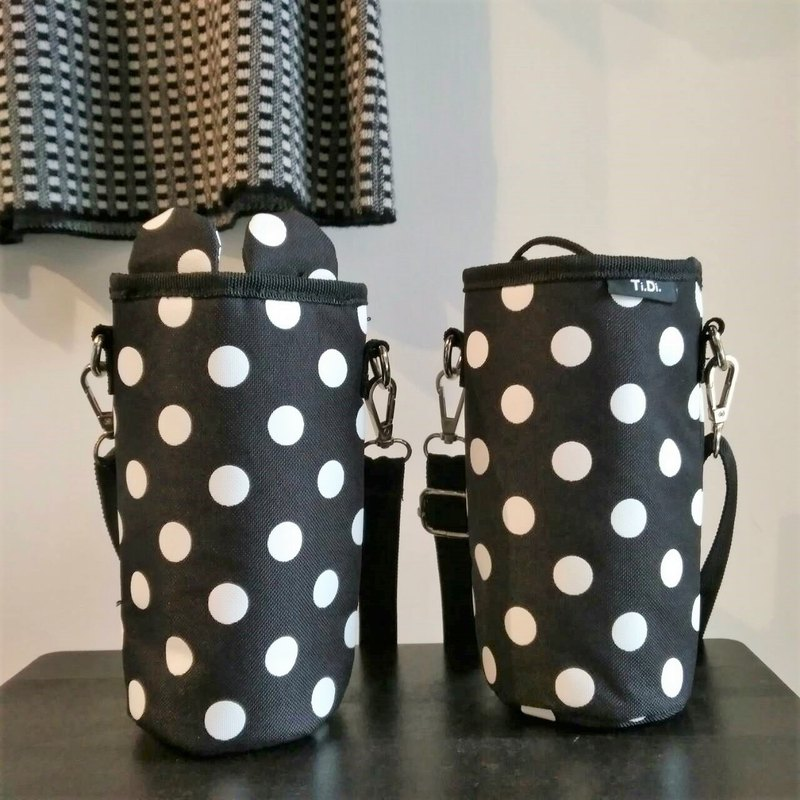 There are two types of TiDi stylish black dot water bottle bags