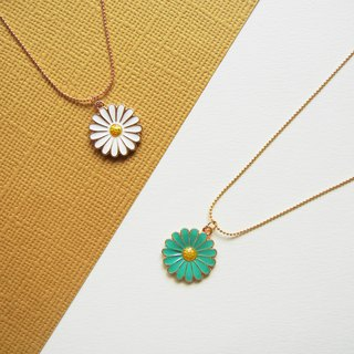 *coucoubird*glazed daisies necklace / two-tone