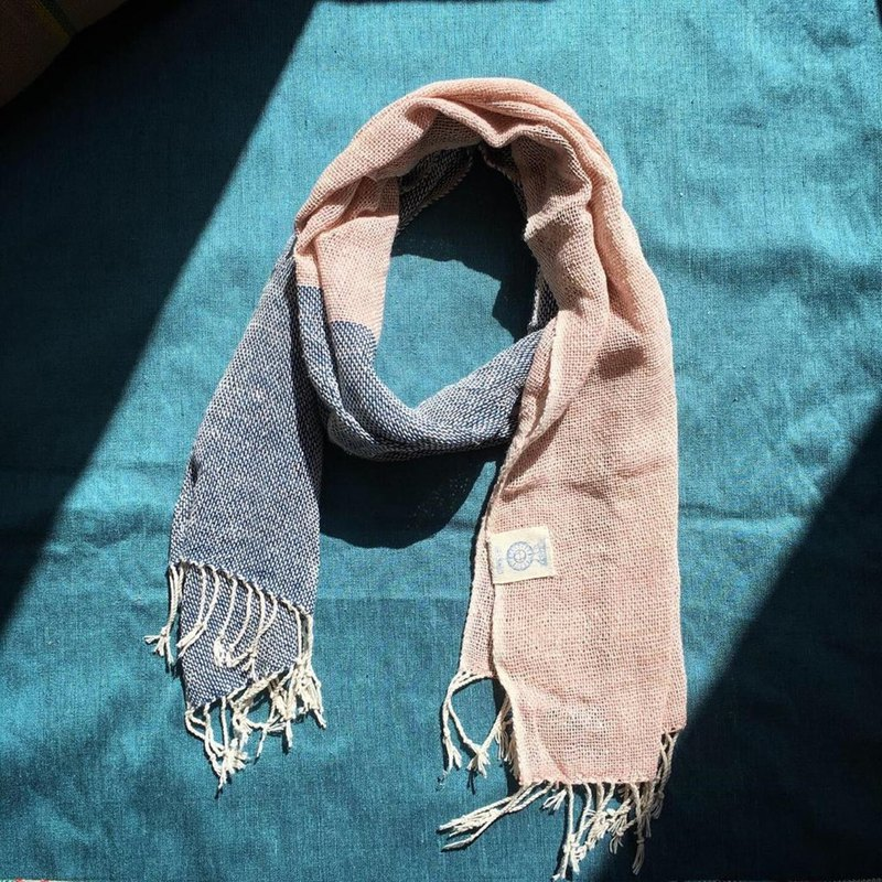 Original Eco-Brand : EARTH.er :: Natural Dyed Scarf (Blue+Pink)