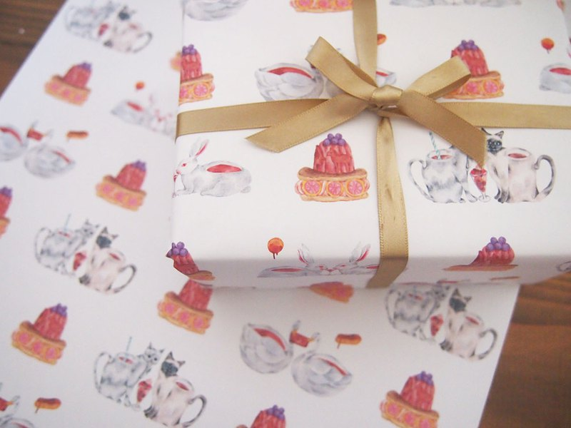Wrapping Paper - Animals and Chocolate