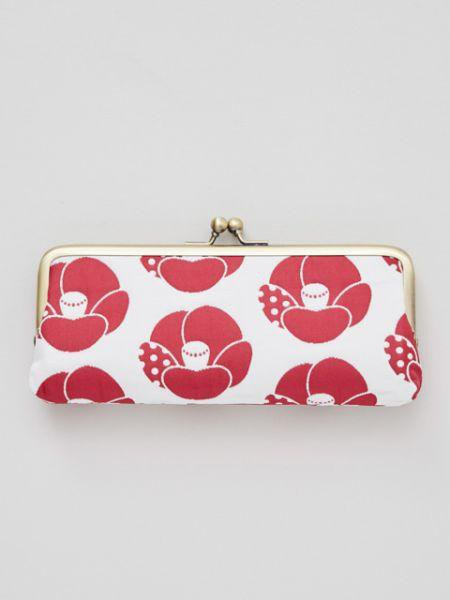 Japanese Flower Pattern Matelasse GAMAGUCHI Glasses Case