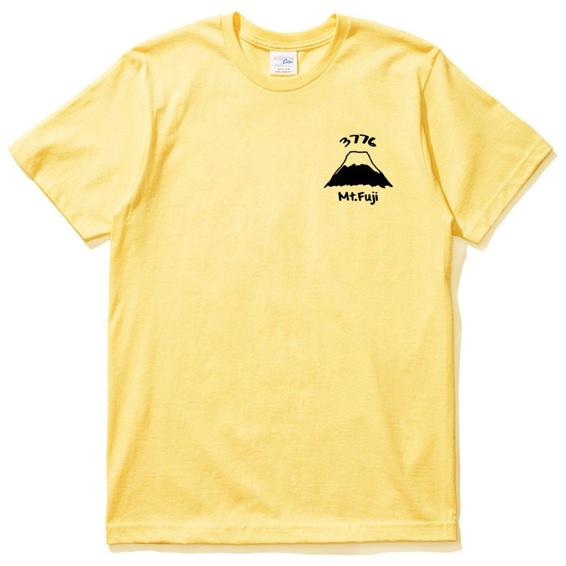 Pocket Mt Fuji 3776 yellow t shirt