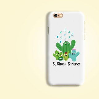 Be Strong Cactus Matt hard Phone Case  for iPhone X 8 8 plus Note 8 S8 S7 edge