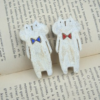 Lazy cat(Blue) - brooch