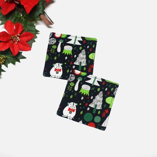 Magic forest coaster set of 2
