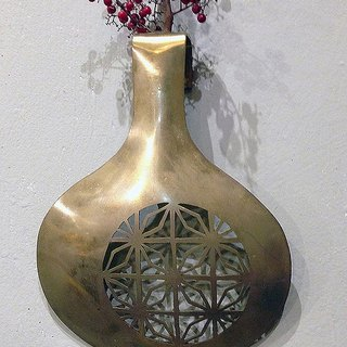 Brass wall hanging flower Pieces / window flowers B, hand-made poetry with metal craft to write poetry for life