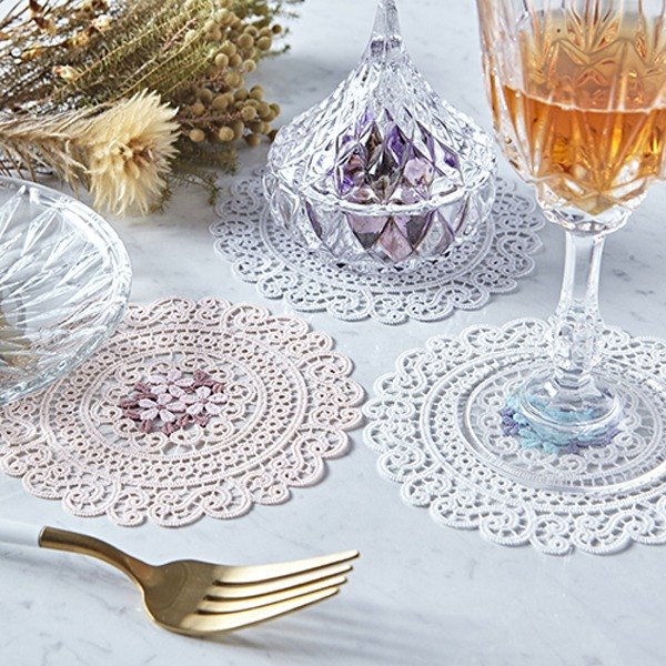 French embroidery coaster