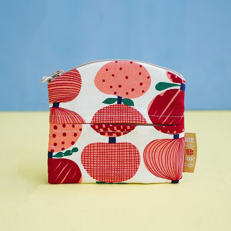 Give yourself a gift face paper coin purse pink fruit