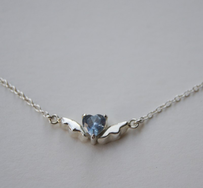 *Flying Heart* handmade silver necklace