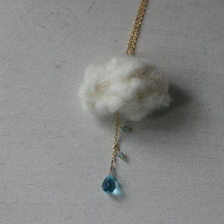 Water blue drizzle necklace
