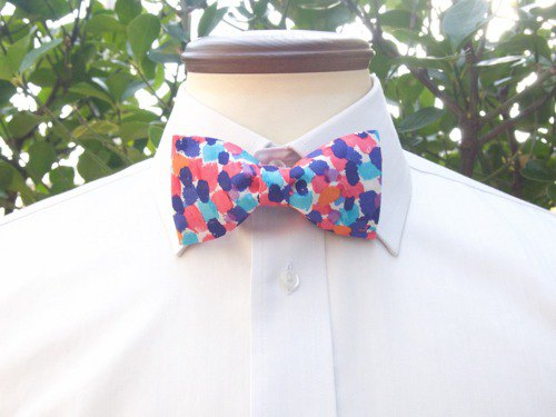 TATAN Marble Bow Tie (Pink)