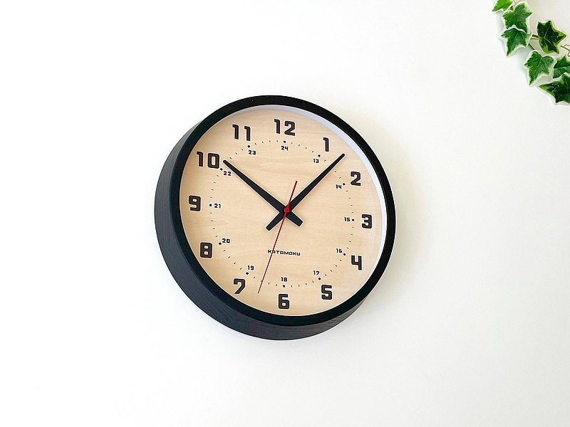 KATOMOKU muku clock 8 white ash black (km-81B)  wall clock made in japan