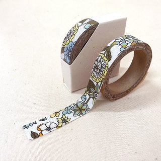 Cloth tape - spring floral flower [bloom yellow]