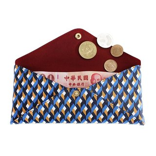 FULLGRAIN │ Italian PVC Stereo Storage Bag (Pencil Bag / Wallet / Cosmetic Bag / Cell Phone Bag) Blue