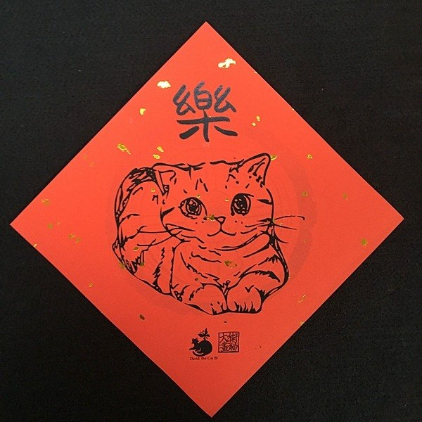 David drawing cats R08 full Fubao 15x15 cm throwing cute cat Cat festive New Year couplets necessary
