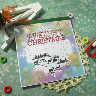 Christmas cards (greeting card) - handmade cards Colorful Christmas