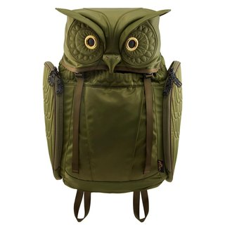 Morn Creations Genuine Great Horned Owl - Green (OW-101-GN)