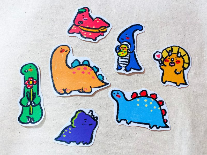Big sticker / dinosaur strikes (7 models in total)