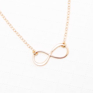 Love Infinity s925 sterling silver 18k Rose gold-plated necklace Birthday gift