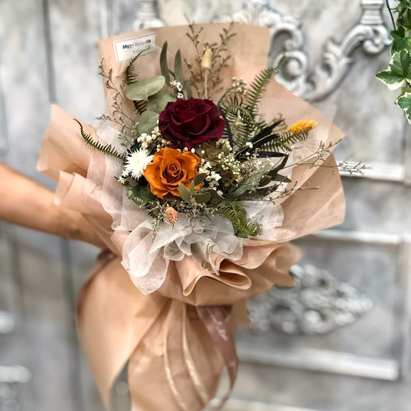 [Meeting forever] Vintage color eternal rose bouquet
