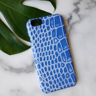 AOORTI :: Apple iPhone 6s/6s Plus Handcrafted Leather Coat Case/Mobile Phone Case - crocodile/blue
