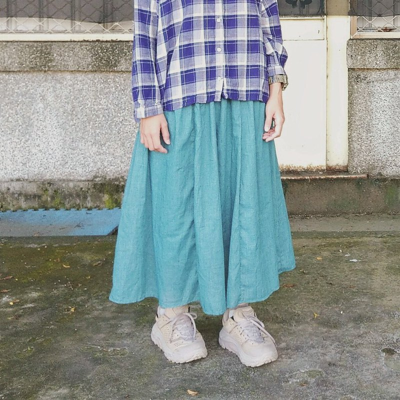 Maverick Village ultra-light cotton soft and elegant long skirt [Qingliu Lake water green] sold out does not make up