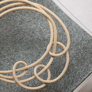 Lussli | Knitted Necklace - CIRCLE (Gold)