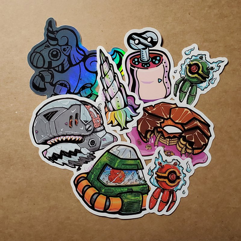 Original Pattern Sticker Series - Mechanical
