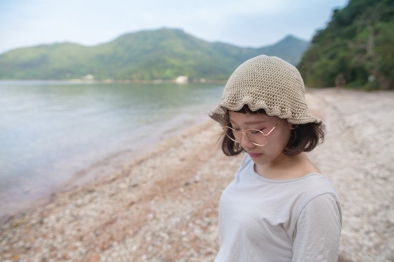 oryza_ruffle crochet hat. limited edition
