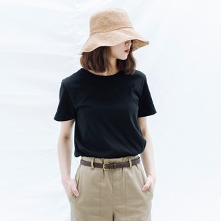 Hao Black Cotton T-Shirt Black Cotton Tee