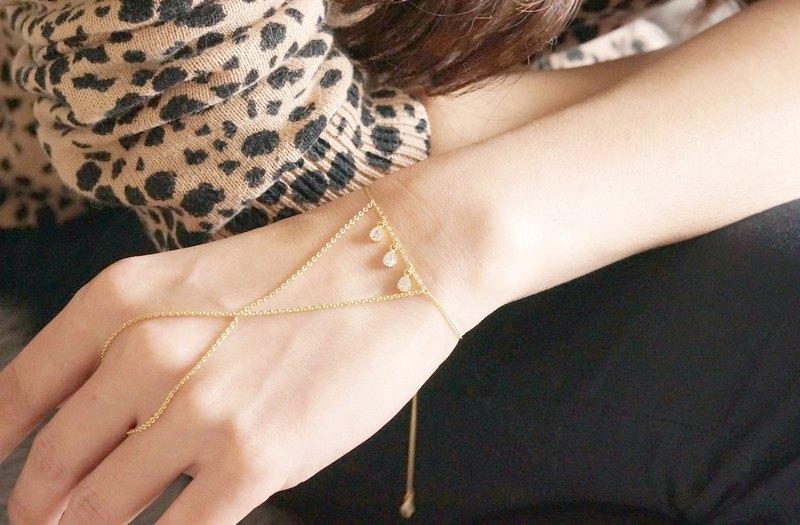 可調節環形手鍊,手鍊, - 淚滴或三角形 -