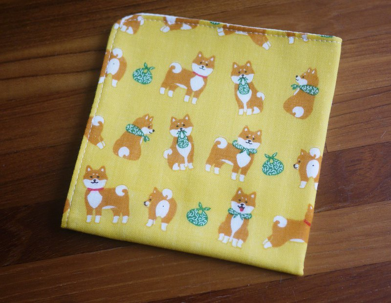 Limited edition section = Japanese double yarn handkerchief = - Shiba Inu help = yellow