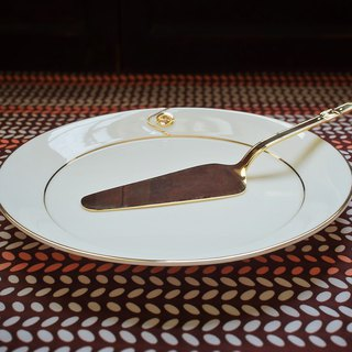 Early Golden Cake Pan and Knife - Roberta di camerino (Tableware / Made in Japan / Dessert)