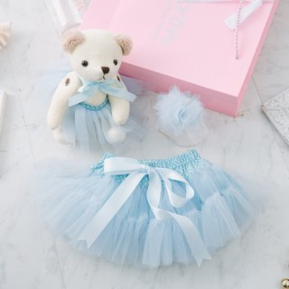 Innocent Blue - Handmade Lightweight Skirt (With Tiara)