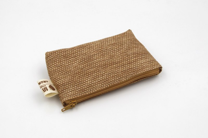 [Paper cloth home] paper thread weaving purse brown