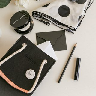 Leyang·Gauisus - Picnic Small Party Bag (Hand To Shoulder) - Simple Black