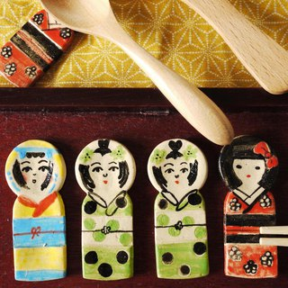 Kokeshi chopstick rest [green]