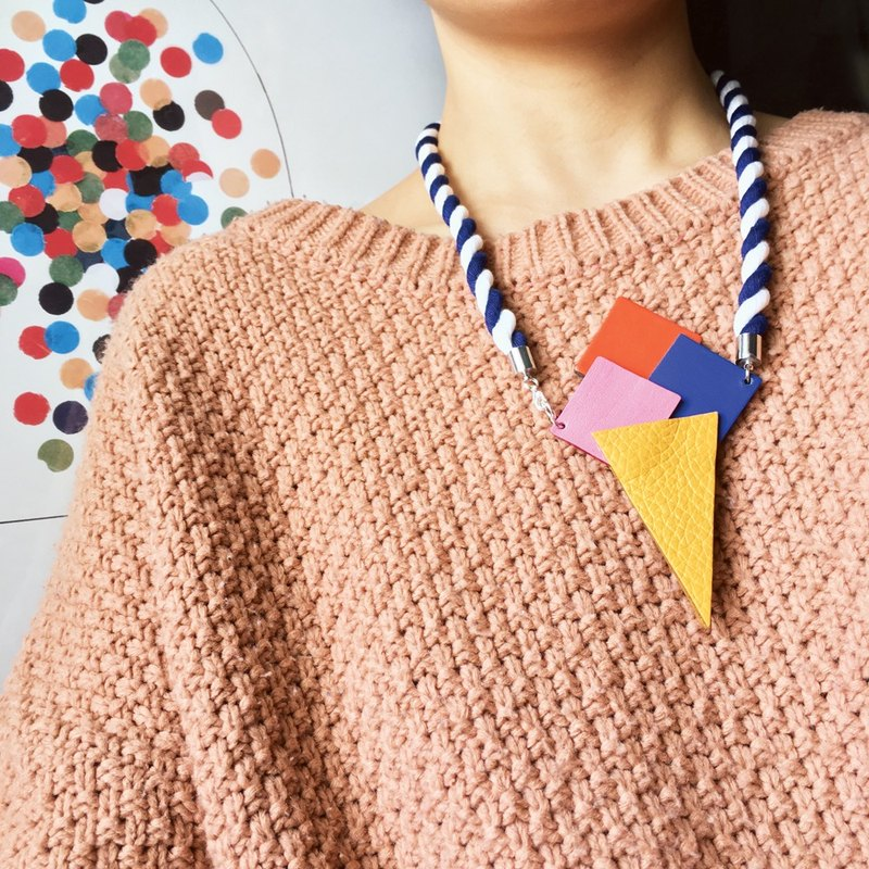 Sonniewing's Ice-Cream Cone Leather Necklace