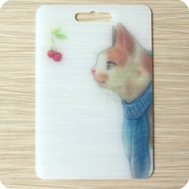 Creative chopping board plastic cutting board Meeks cat design kitchen kitchen supplies camping tableware Wenchuang gift