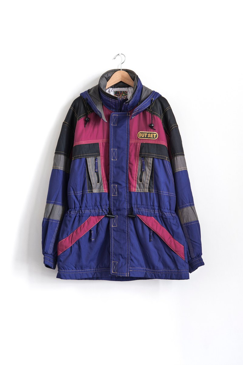 Vintage color cut ski coat vintage coat